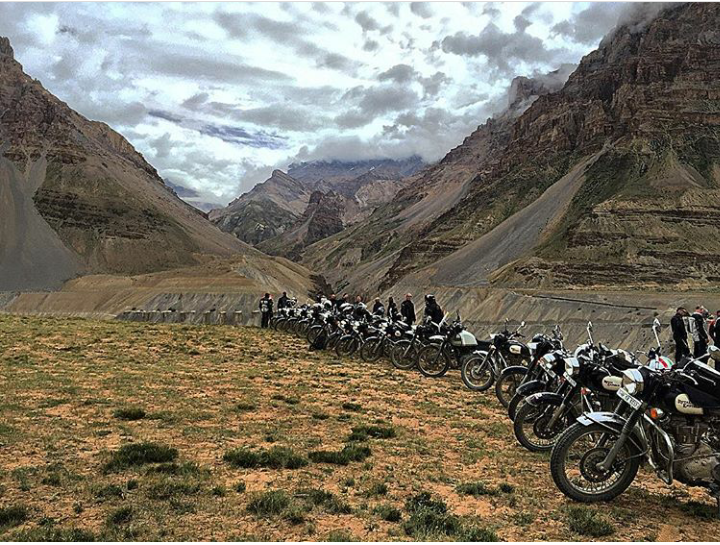 Tour in Himalayas with Group Riders